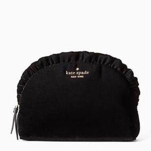 NWT♠️Kate Spade♠️Briar Lane Velvet Ruffle Bag
